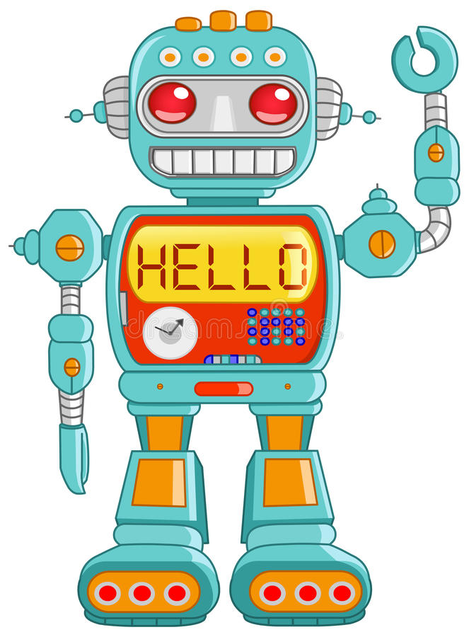 Γειά σου ρομπότ διανυσματική απεικόνιση