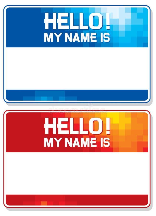 Γειά σου το όνομά μου είναι κάρτα ελεύθερη απεικόνιση δικαιώματος