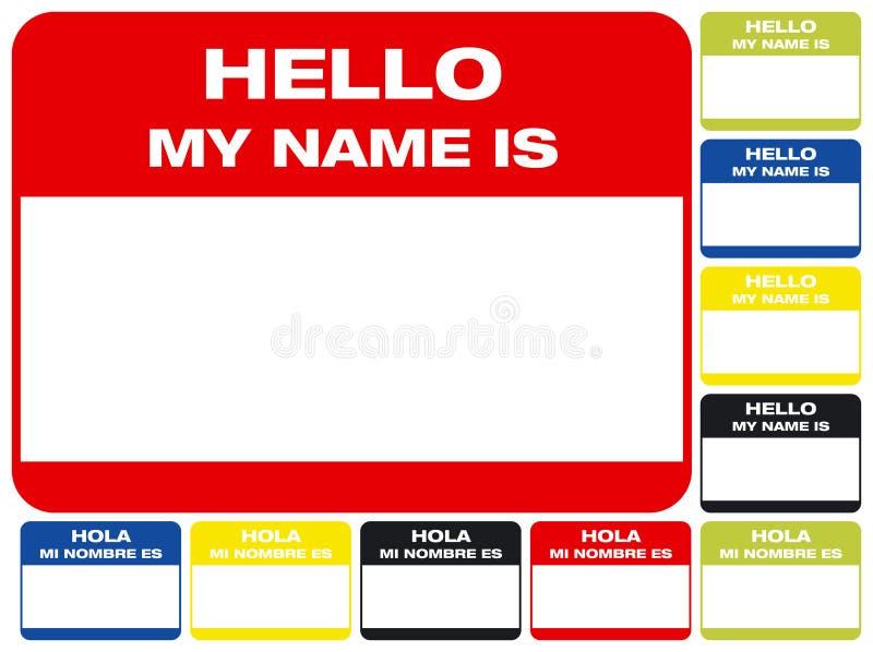 γειά σου το όνομά μου στοκ εικόνα