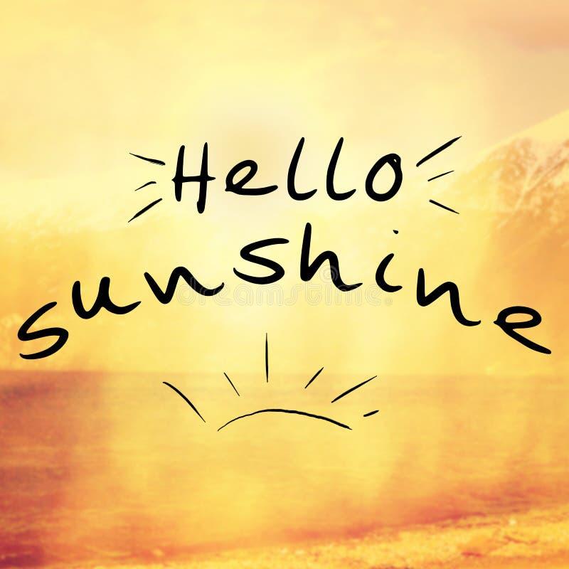Γειά σου υπόβαθρο αποσπάσματος ηλιοφάνειας ελεύθερη απεικόνιση δικαιώματος
