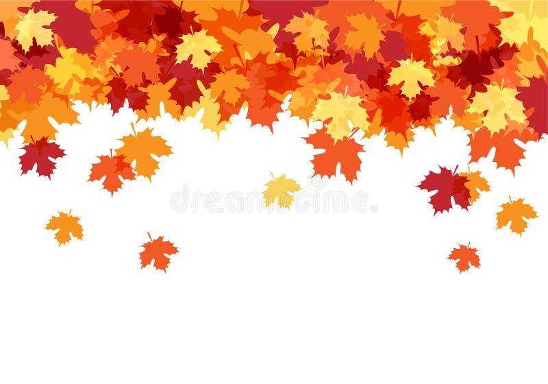 Γειά σου όμορφο διακοσμητικό υπόβαθρο φθινοπώρου απεικόνιση αποθεμάτων