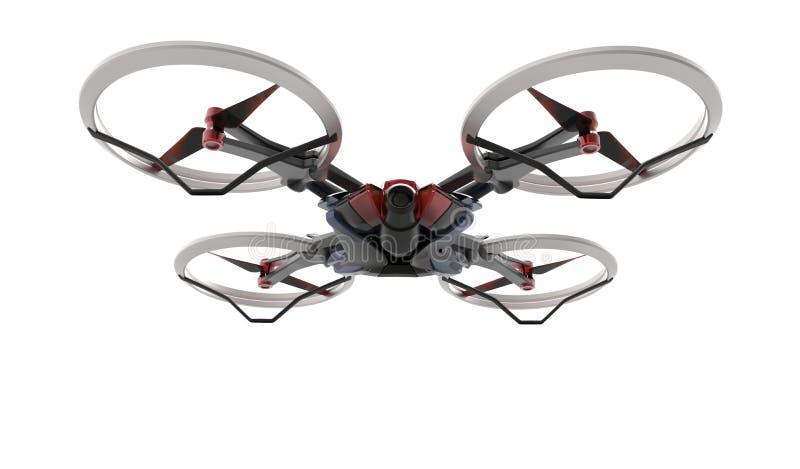 Γεια κηφήνας τεχνολογίας sci-Fi quadcopter με τον τηλεχειρισμό στοκ εικόνες
