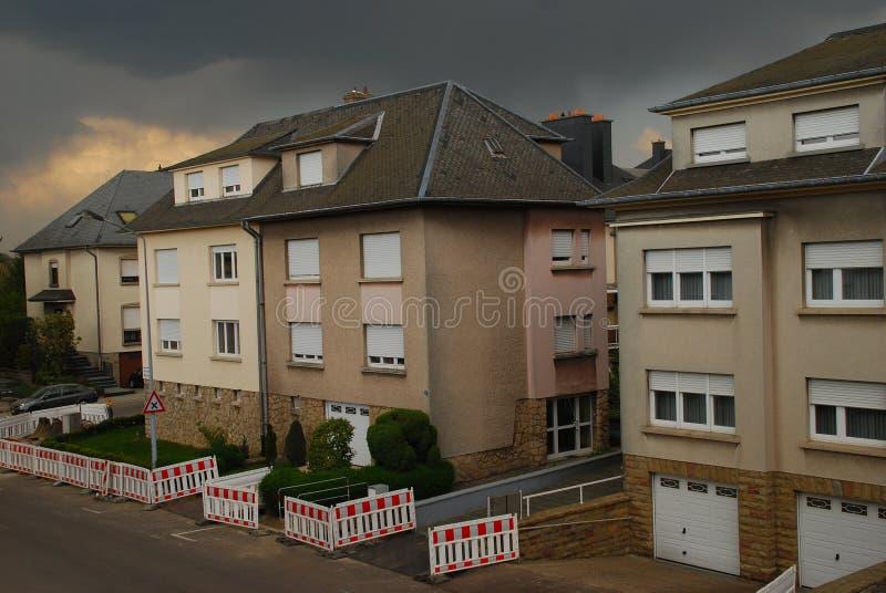 Γειτονιά της πόλης του Λουξεμβούργου στοκ εικόνα
