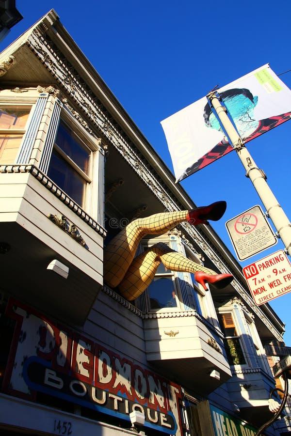 Γειτονιά Ashbury Haight σε Καλιφόρνια στοκ φωτογραφία με δικαίωμα ελεύθερης χρήσης