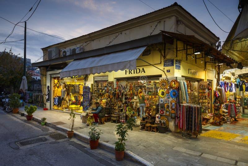 Γειτονιά Monastiraki στην Αθήνα στοκ φωτογραφία