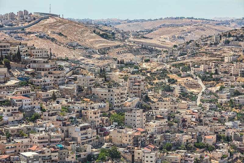 Γειτονιά Silwan στην Ιερουσαλήμ, Ισραήλ στοκ φωτογραφίες με δικαίωμα ελεύθερης χρήσης