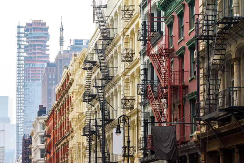 Γειτονιά Soho στην πόλη του Μανχάταν Νέα Υόρκη στοκ εικόνες