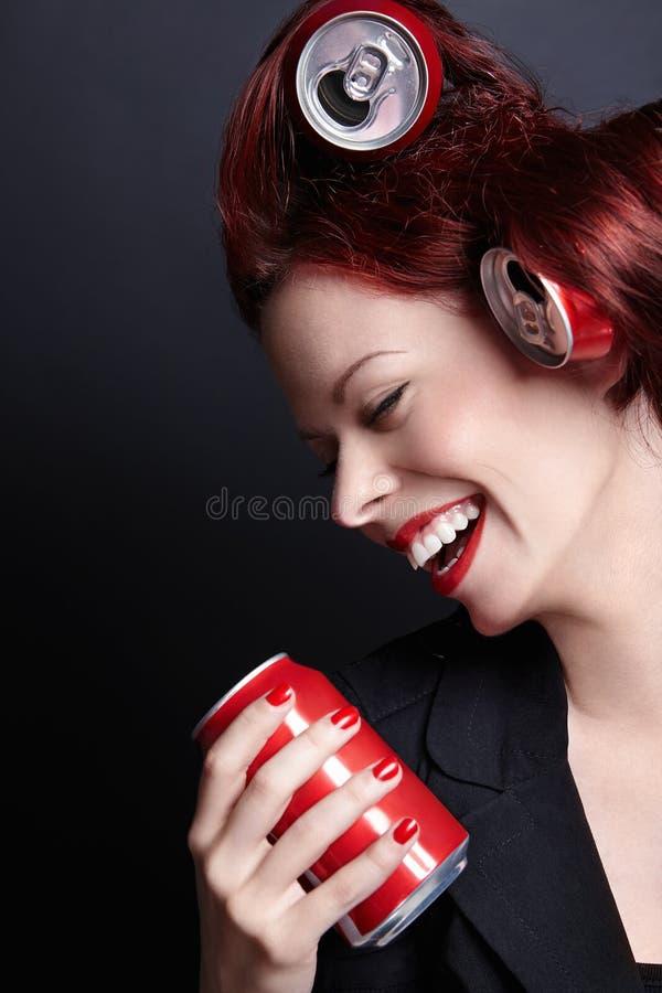 Γελώντας γυναίκα στοκ φωτογραφίες