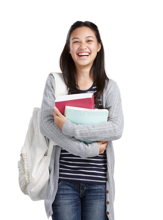 γελώντας σπουδαστής κολλεγίων στοκ φωτογραφία με δικαίωμα ελεύθερης χρήσης