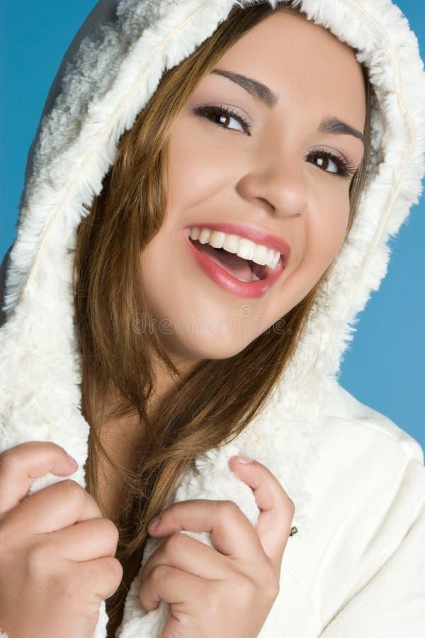 Γελώντας χειμερινός έφηβος στοκ εικόνες