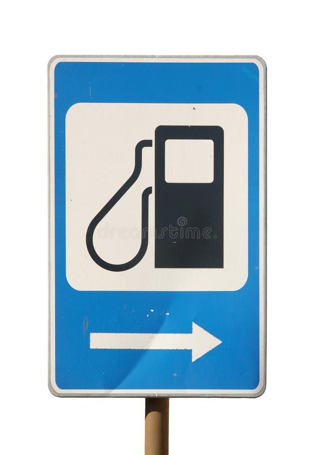 γεμίζοντας σταθμός σημαδιών βενζίνης στοκ εικόνες