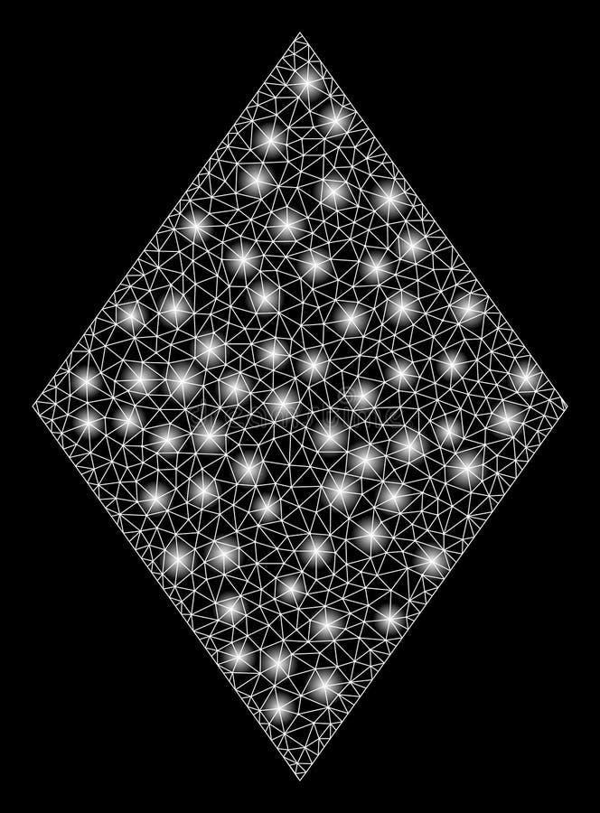 Γεμισμένος δίκτυο ρόμβος πλέγματος φλογών με τα σημεία φλογών ελεύθερη απεικόνιση δικαιώματος