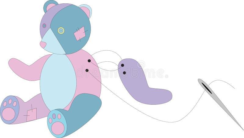 Γεμισμένος ζωηρόχρωμος teddy αντέχει διανυσματική απεικόνιση
