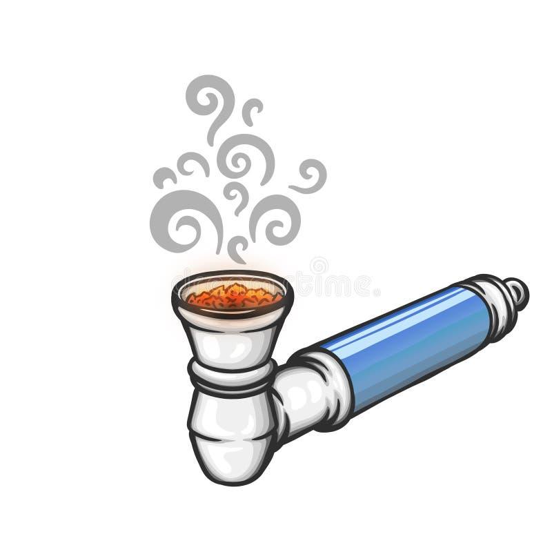Γεμισμένος σωλήνας μετάλλων για το καπνίζοντας ζιζάνιο απεικόνιση αποθεμάτων