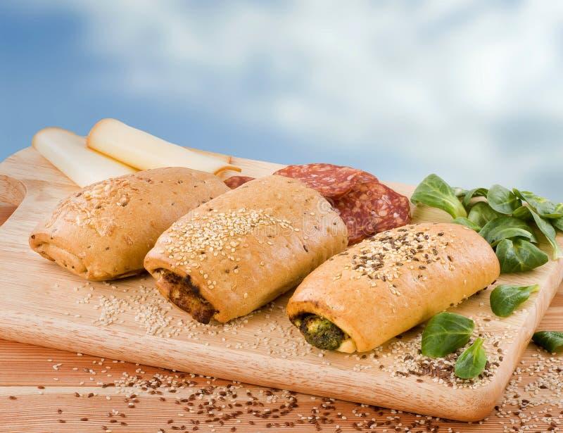 γεμισμένο τυρί σπανάκι σα&lambd στοκ φωτογραφίες