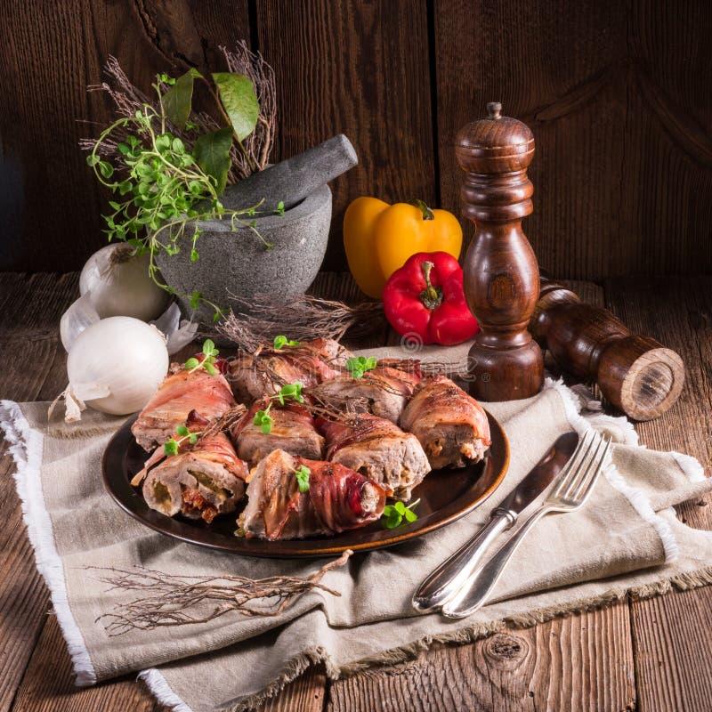 γεμισμένο χοιρινό κρέας tenderloin στοκ φωτογραφίες