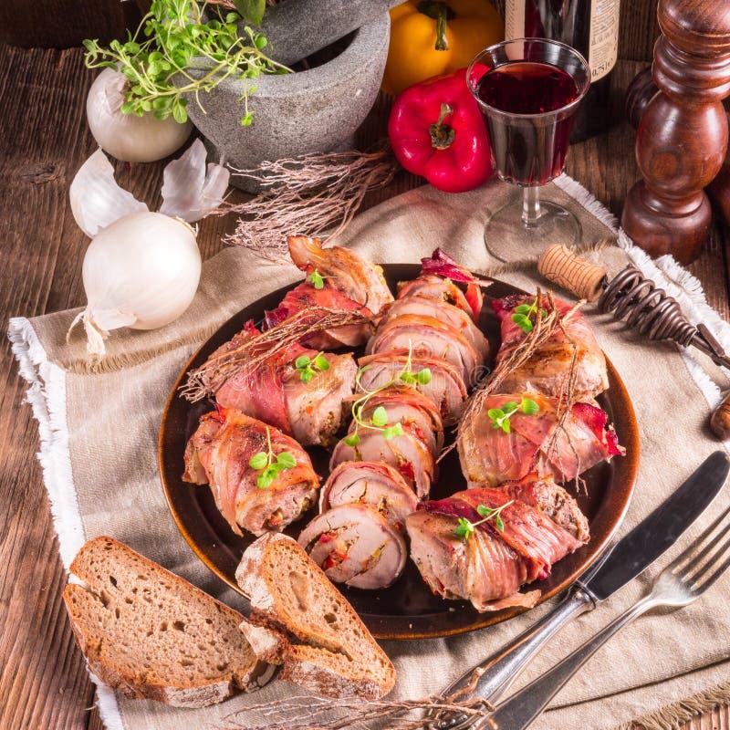 γεμισμένο χοιρινό κρέας tenderloin στοκ εικόνα με δικαίωμα ελεύθερης χρήσης