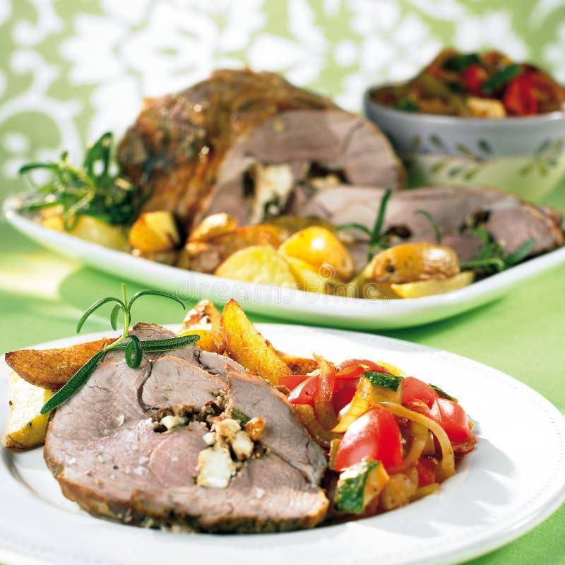 γεμισμένο roast αρνιών στοκ εικόνα