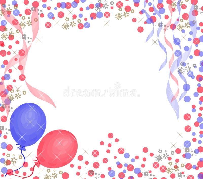 γενέθλια ανασκόπησης ε&upsilon διανυσματική απεικόνιση