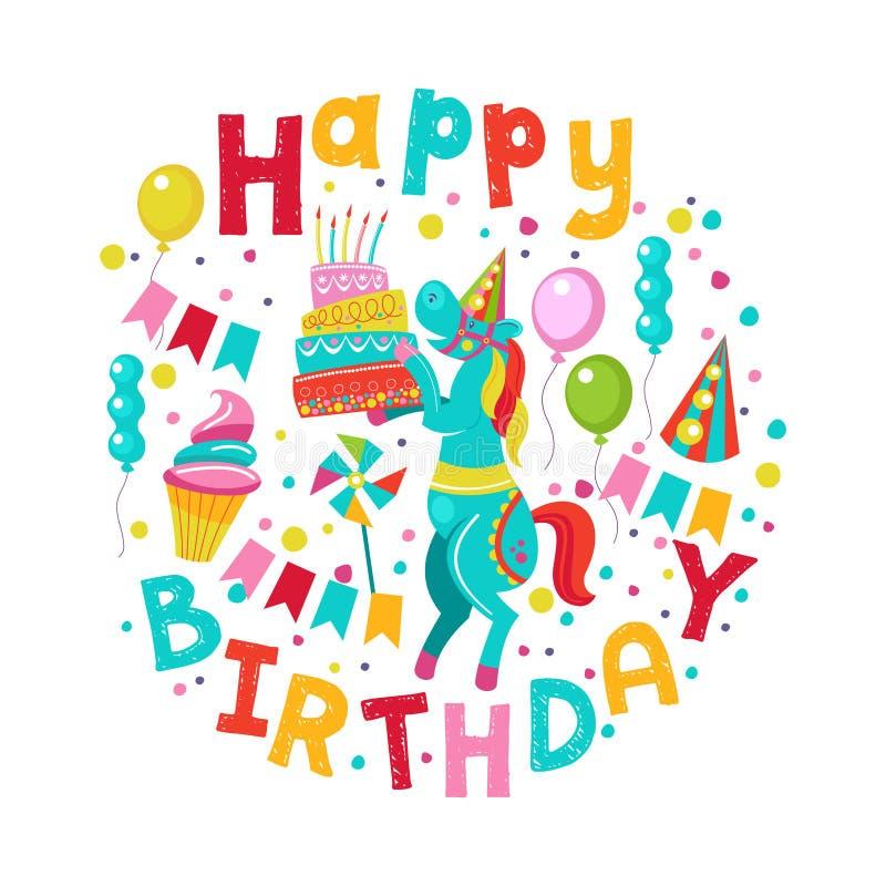 γενέθλια ευτυχή διάνυσμα μητέρων s ίριδων χαιρετισμού ημέρας καρτών ελεύθερη απεικόνιση δικαιώματος