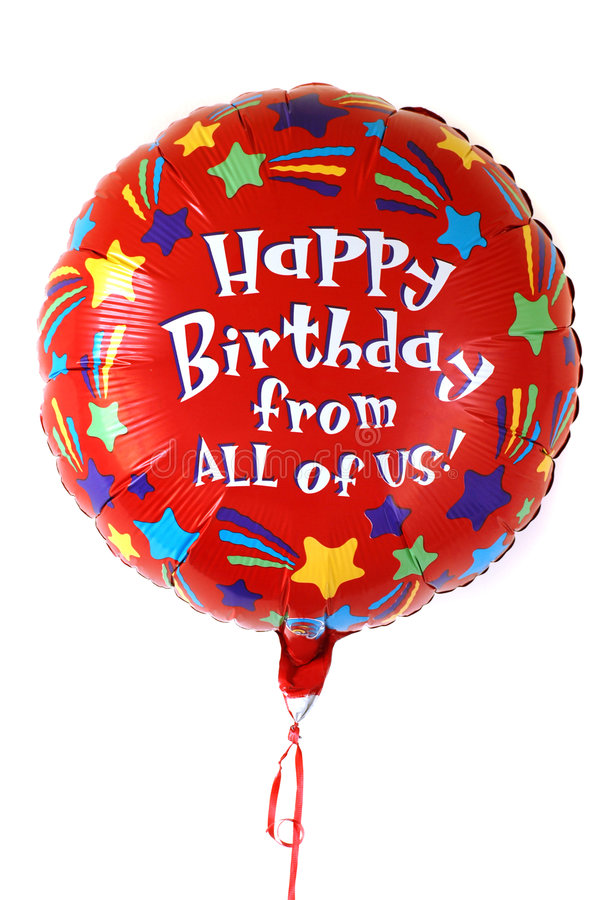 γενέθλια μπαλονιών ζωηρόχρωμα στοκ εικόνες