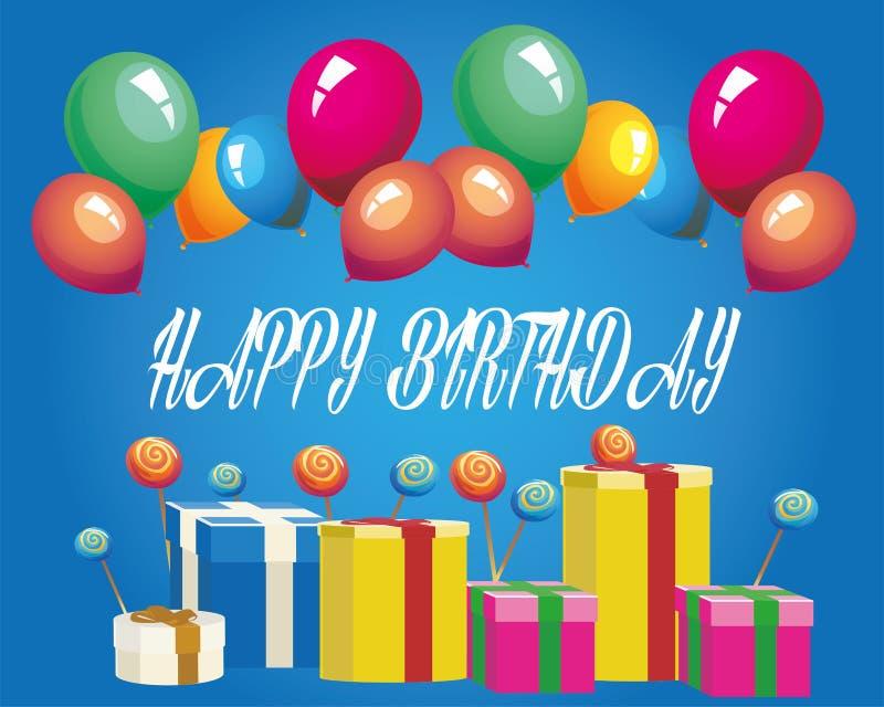 Download γενέθλια ευτυχή απεικόνιση αποθεμάτων. εικονογραφία από γραφικός - 62711261