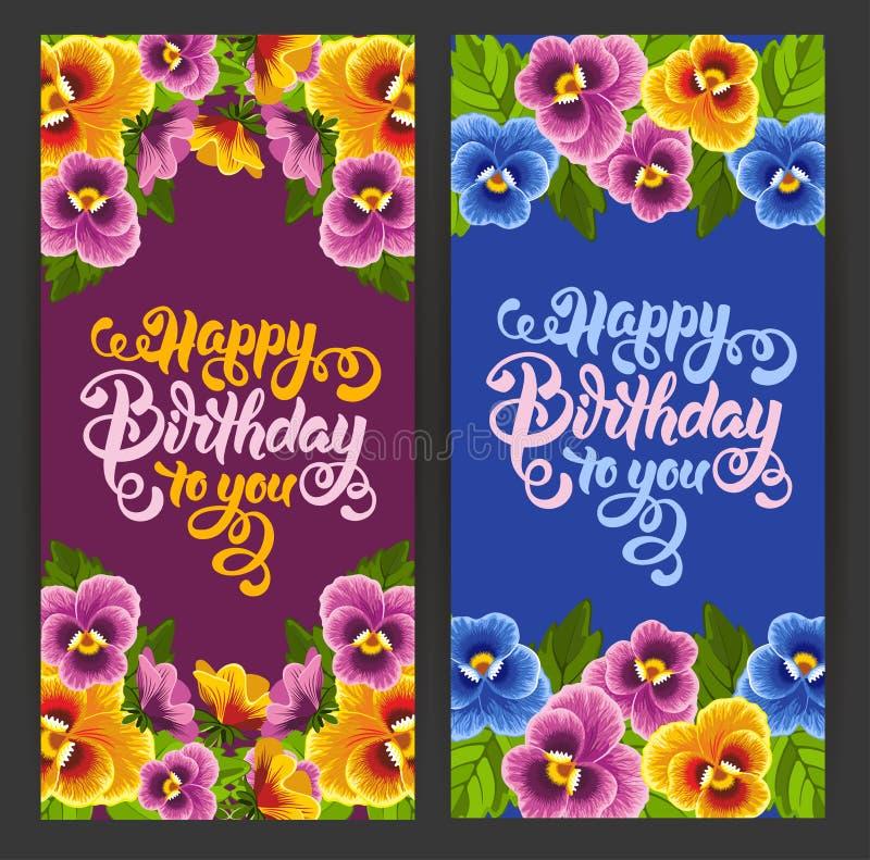 γενέθλια ευτυχή διανυσματική απεικόνιση