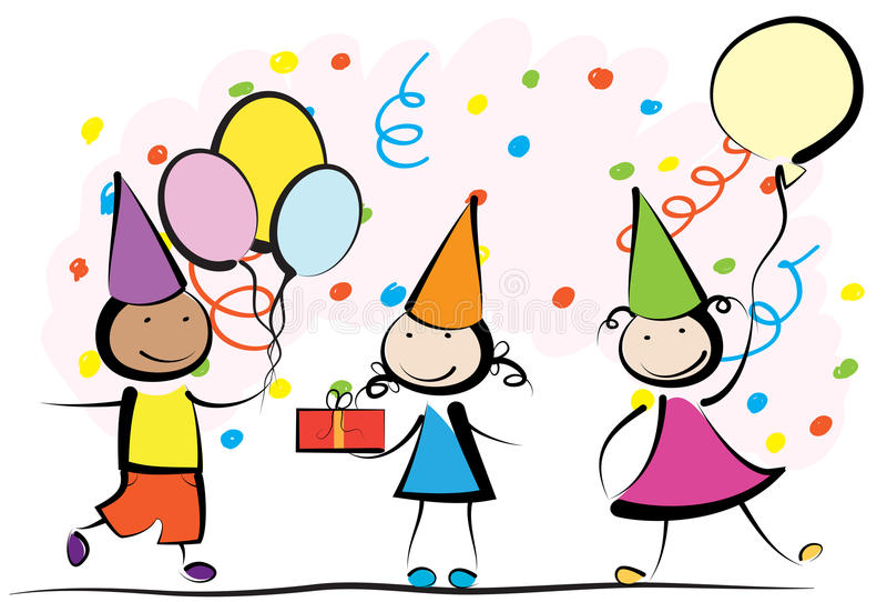 Γενέθλια παιδιών ελεύθερη απεικόνιση δικαιώματος