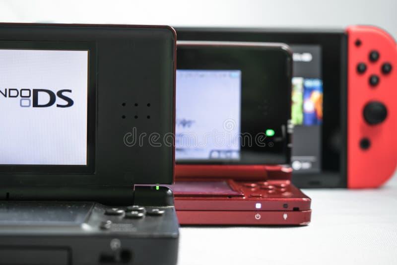 Γενεές της Nintendo στοκ φωτογραφίες