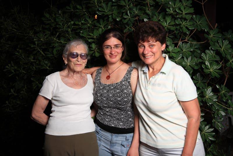 γενεές τρία στοκ φωτογραφία