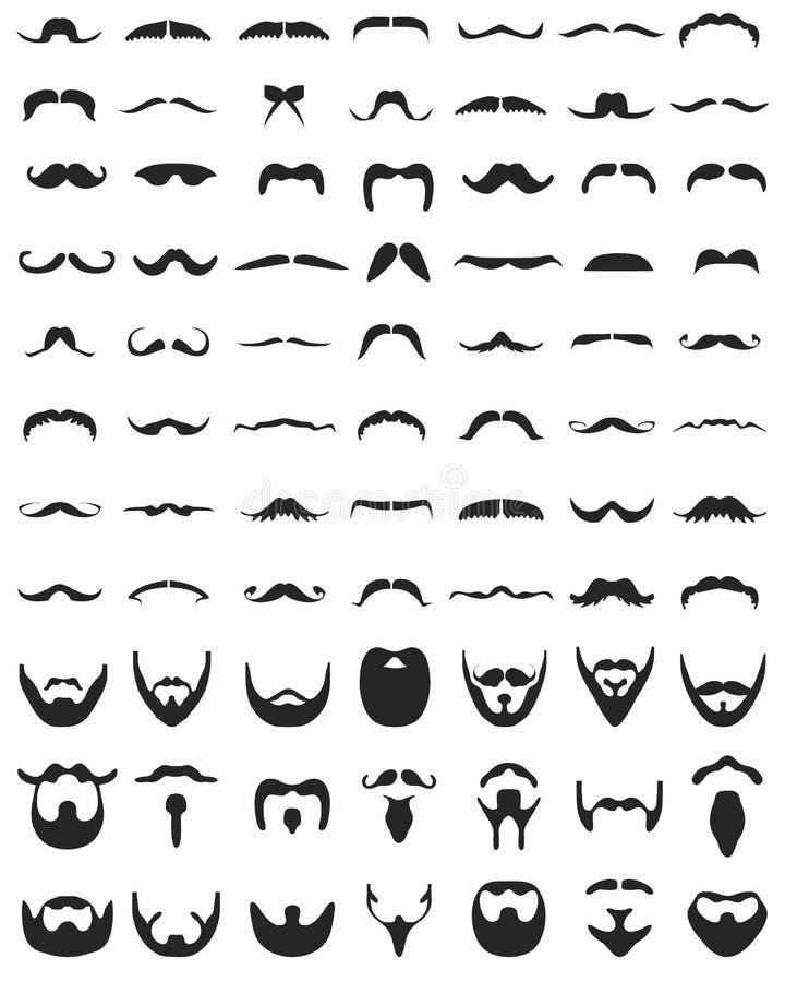 Γενειάδα και moustache απεικόνιση αποθεμάτων