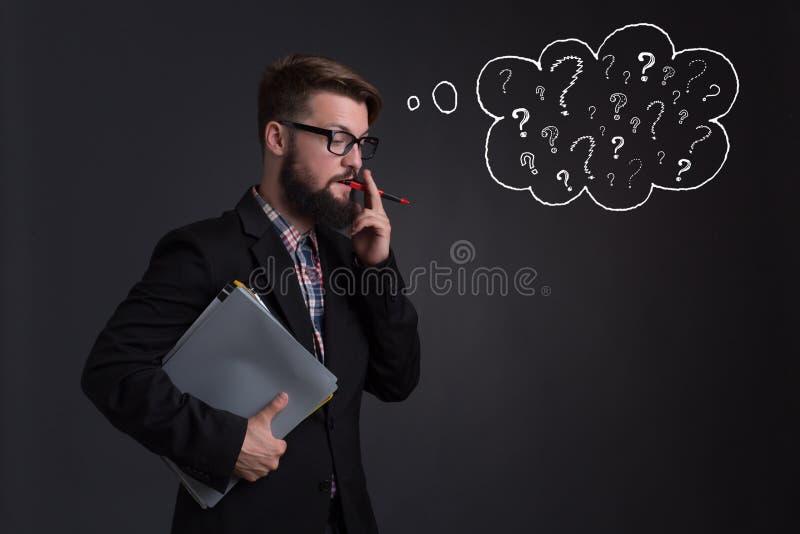 Γενειοφόρος επιχειρηματίας Hipster στοκ εικόνες με δικαίωμα ελεύθερης χρήσης
