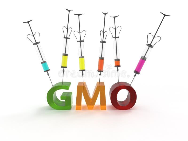 Γενετικά τροποποιημένοι οργανισμοί ΓΤΟ απεικόνιση αποθεμάτων