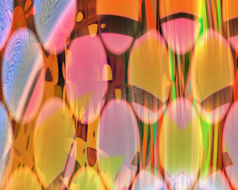 Γενετικές κουρτίνες τέχνης μέσω του τοίχου του πορτοκαλιού δίσκων απεικόνιση αποθεμάτων