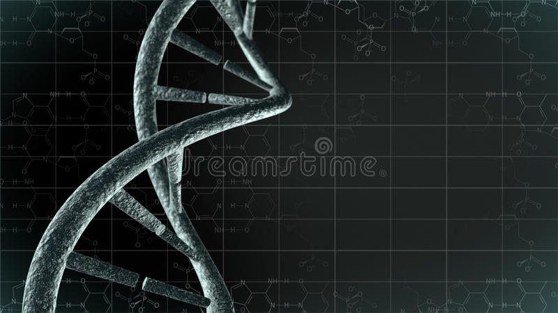 Γενετικό DNA με το υπόβαθρο επιστήμης ελεύθερη απεικόνιση δικαιώματος