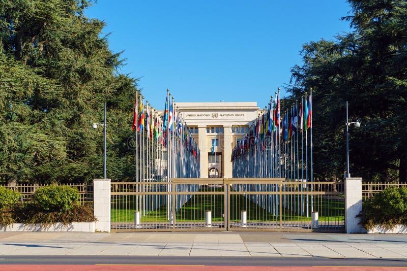 Γενεύη, Ελβετία - 18 Οκτωβρίου 2017: Μέλος ST Ηνωμένων Εθνών στοκ φωτογραφίες