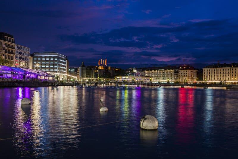 Γενεύη στην αυγή στοκ φωτογραφία