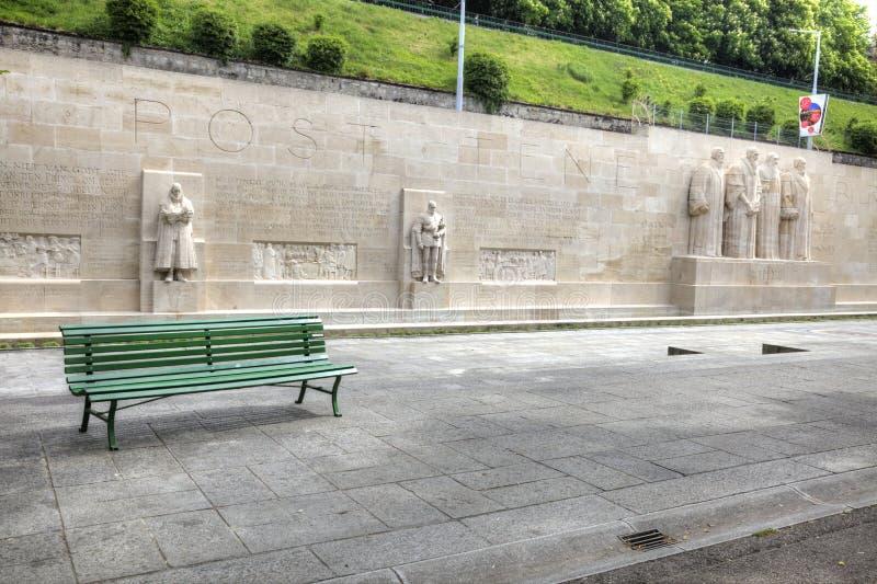 Γενεύη Τοίχος ανασχηματισμού στοκ φωτογραφία με δικαίωμα ελεύθερης χρήσης