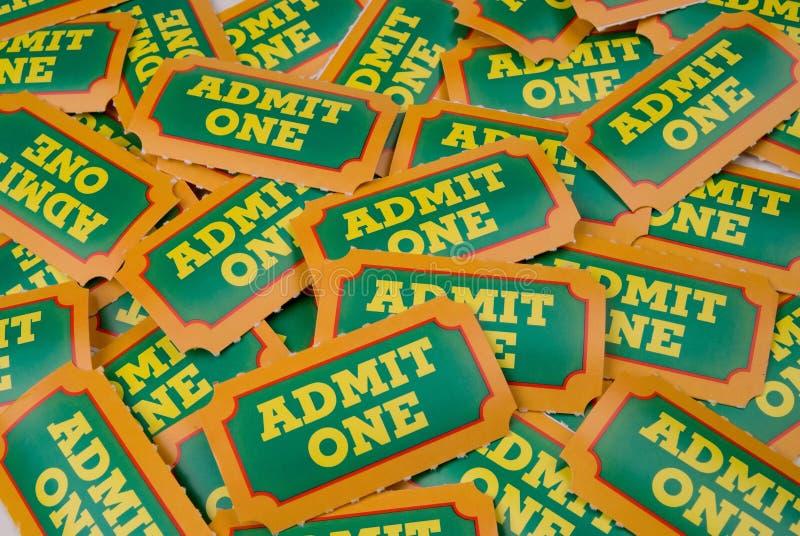 γενικά εισιτήρια αποδοχής στοκ φωτογραφία με δικαίωμα ελεύθερης χρήσης