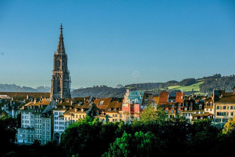 Γενική άποψη πόλεων της Βέρνης στοκ φωτογραφίες