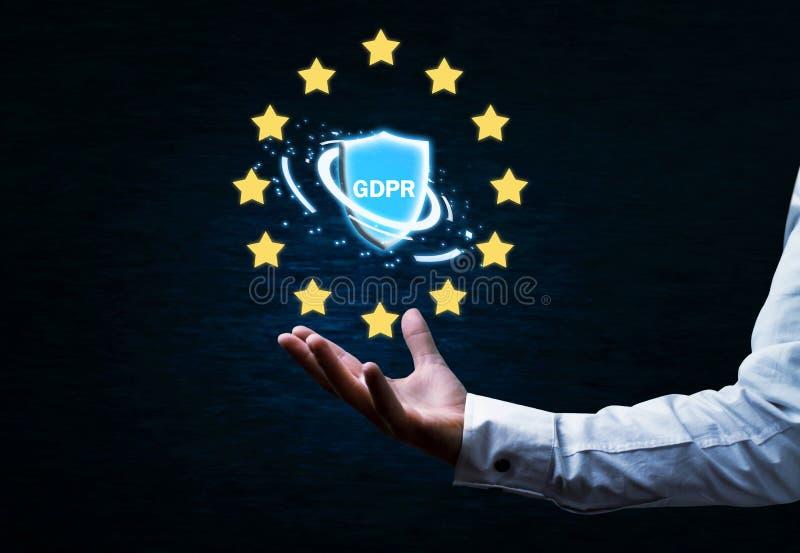 Γενική έννοια κανονισμού προστασίας δεδομένων στοκ εικόνες με δικαίωμα ελεύθερης χρήσης