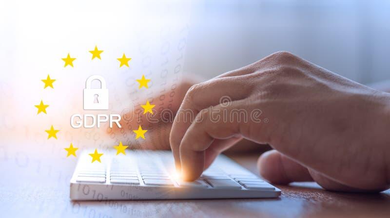 Γενική έννοια κανονισμού προστασίας δεδομένων GDPR στοκ φωτογραφία