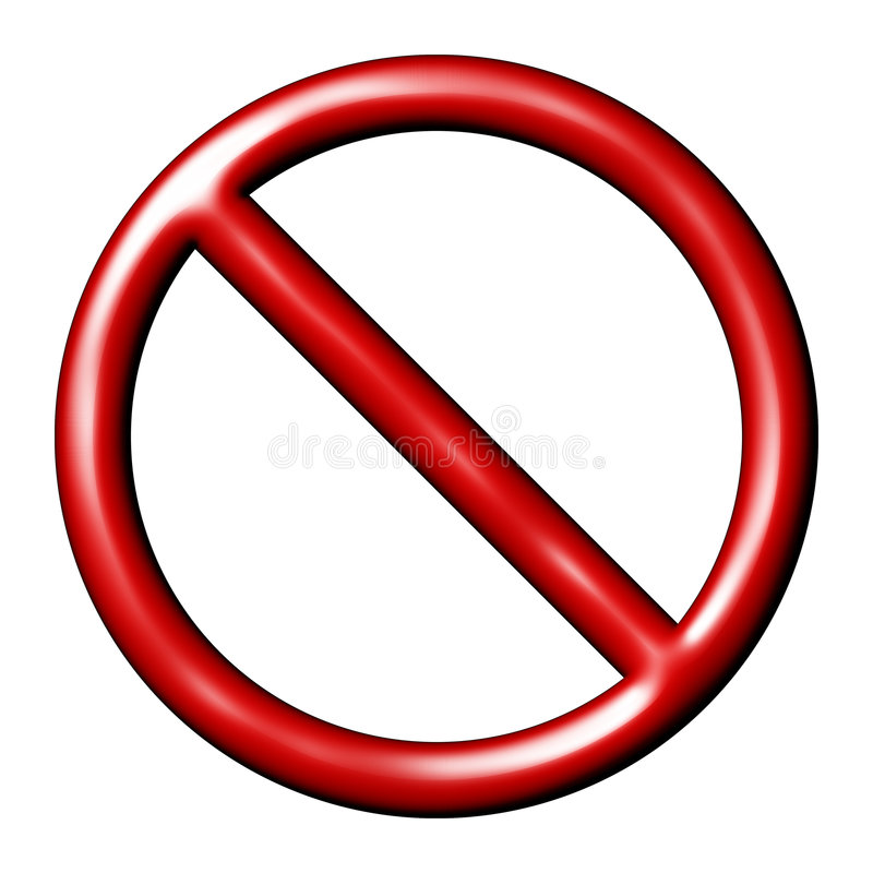Γενική απαγορευμένη επιφυλακή σημαδιών ελεύθερη απεικόνιση δικαιώματος