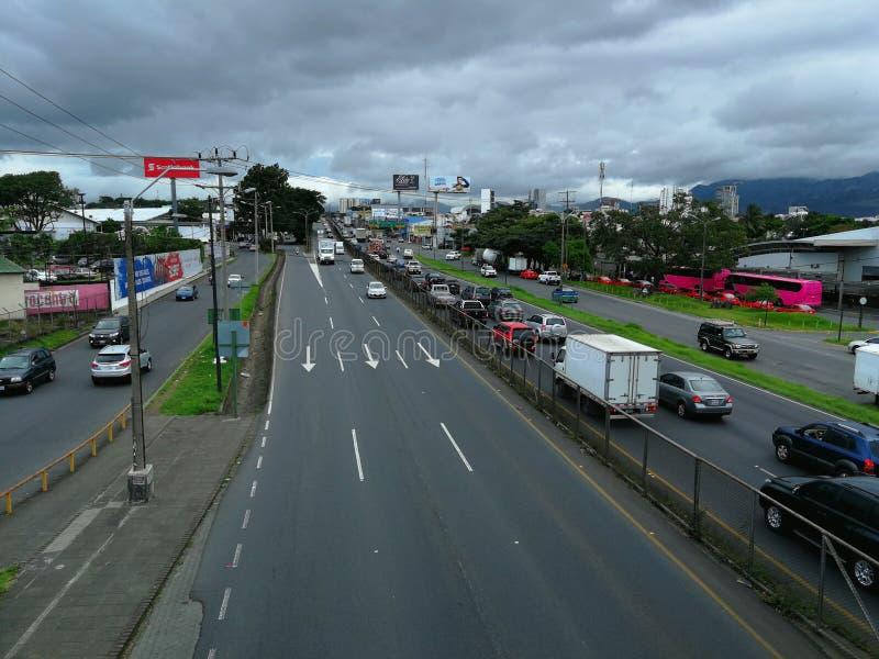 Γενική εθνική οδός Cañas Κόστα Ρίκα στοκ φωτογραφίες