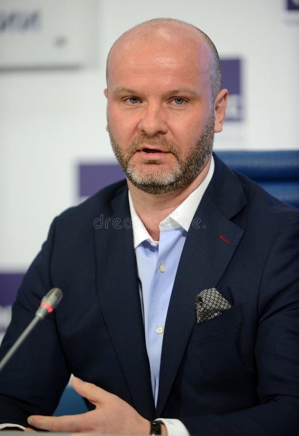 Γενικός Διευθυντής της ένωσης των αξιωματούχων επιβολής του Νόμου και των ειδικών υπηρεσιών της Ρωσικής Ομοσπονδίας Eduard Fedoso στοκ φωτογραφία με δικαίωμα ελεύθερης χρήσης