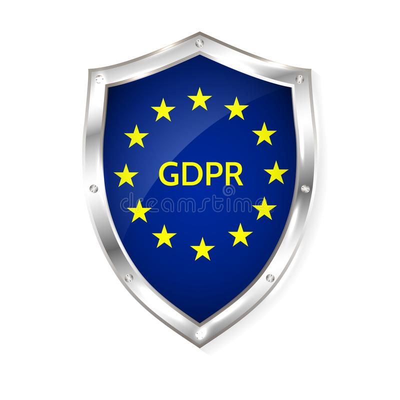 Γενικός κανονισμός προστασίας δεδομένων της ΕΕ διανυσματική απεικόνιση της ΕΕ gdpr απεικόνιση αποθεμάτων