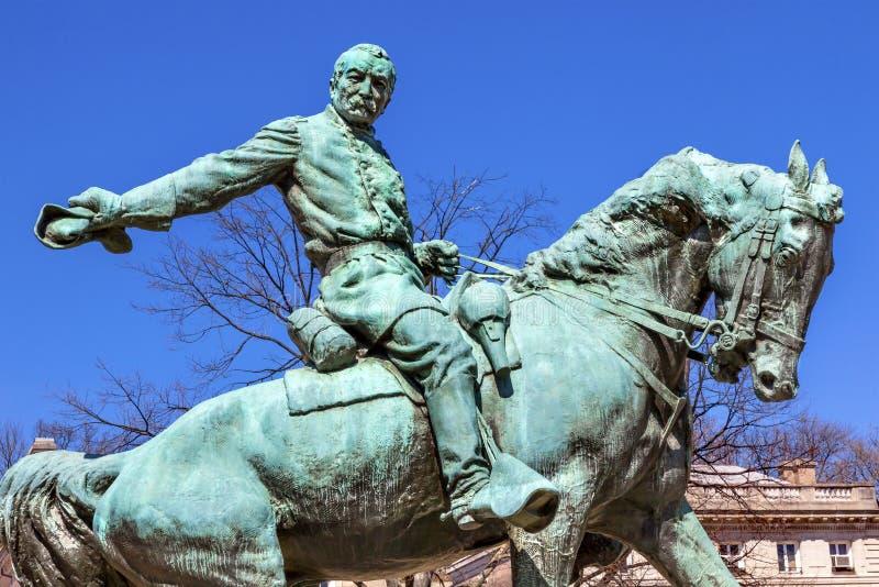Γενικός κύκλος Washington DC της Sheridan αγαλμάτων Phil Sheridan στοκ φωτογραφίες με δικαίωμα ελεύθερης χρήσης