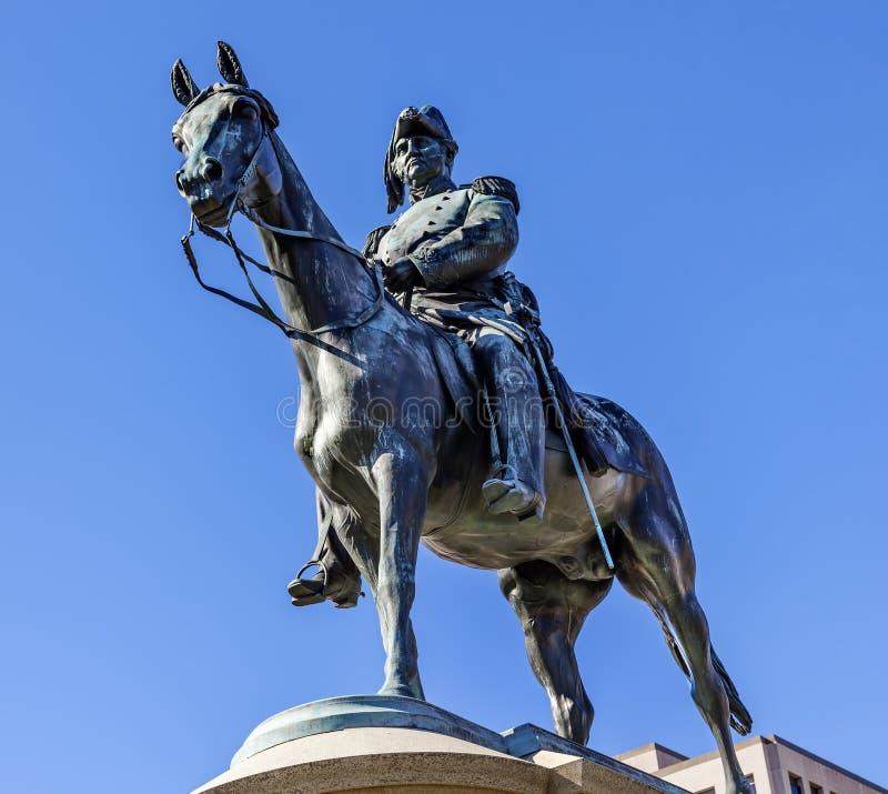 Γενικός κύκλος Washington DC του Scott αγαλμάτων Winfield Scott στοκ εικόνες