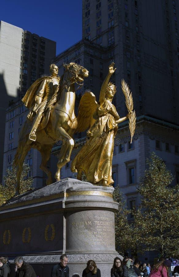 Γενικό άγαλμα του William Tecumseh Sherman κοντά στο Central Park NYC στοκ φωτογραφία με δικαίωμα ελεύθερης χρήσης