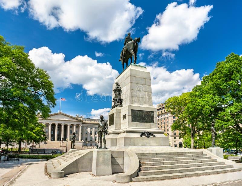 Γενικό μνημείο του William Tecumseh Sherman στην Ουάσιγκτον, Δ Γ στοκ εικόνα με δικαίωμα ελεύθερης χρήσης